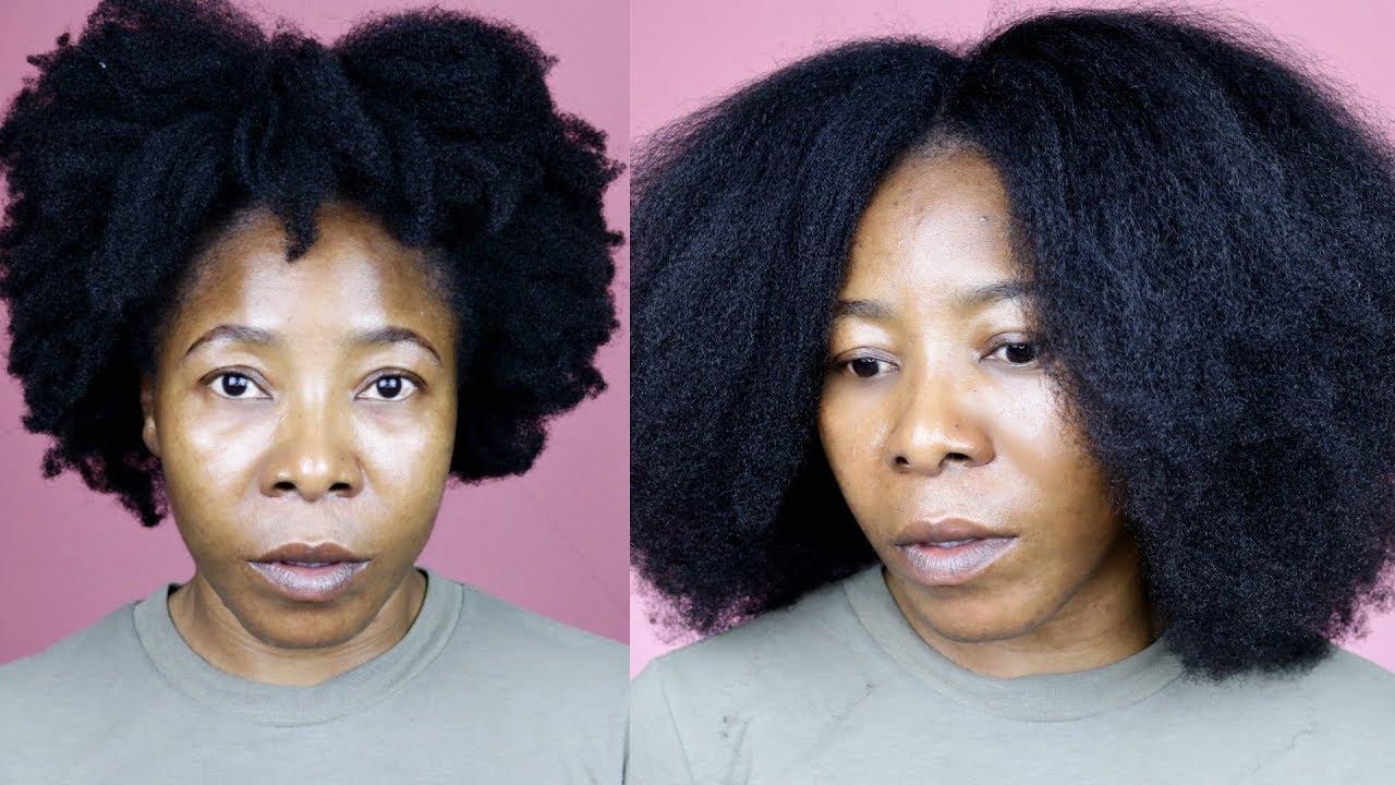 stretch natural hair