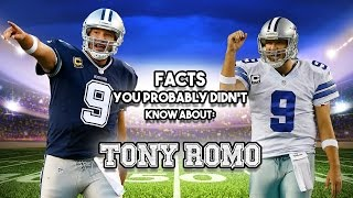 20 interesting facts about dallas cowboys quarterback tony romowhich nfl player do you want to know more about?any other sports lists us do, we w...