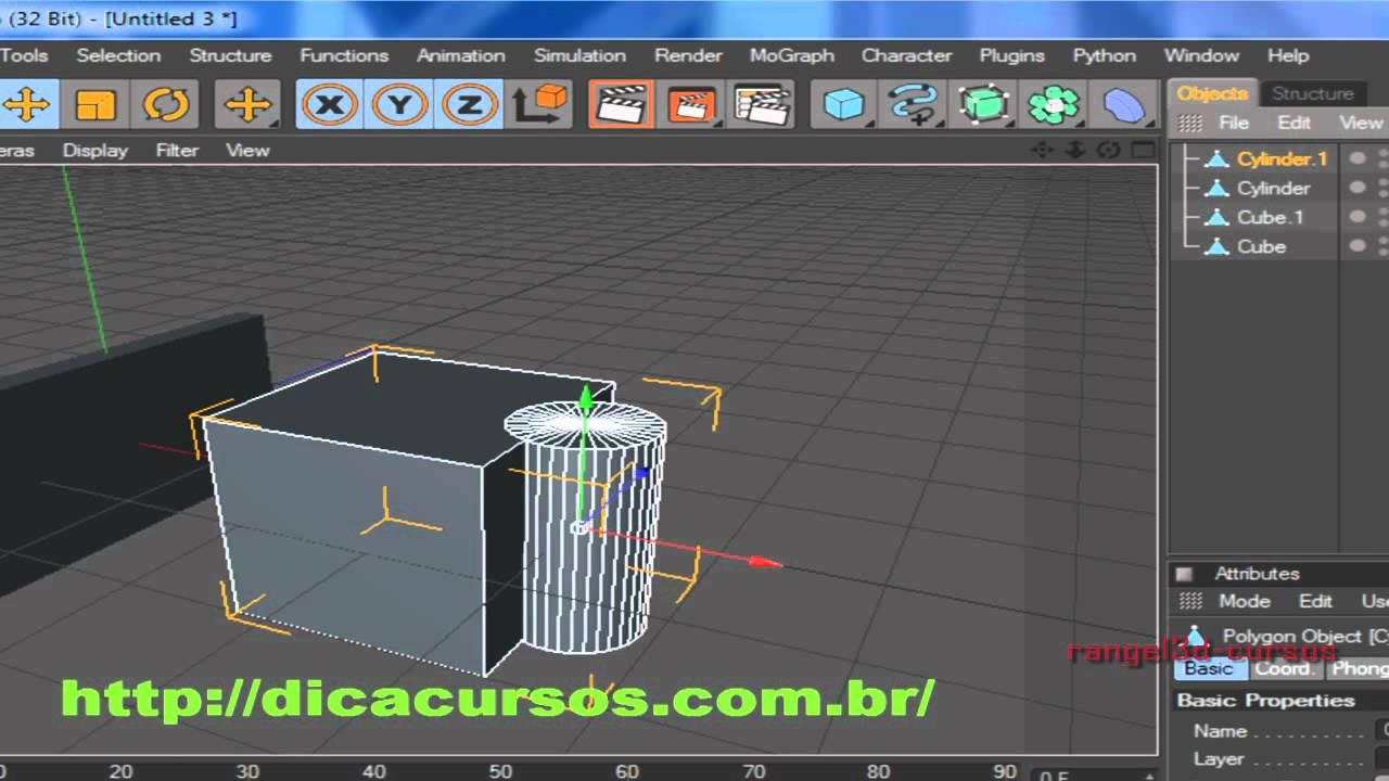Cinema4D Aula 11 Menu Functions YouTube