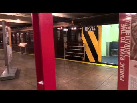 New York Transit Museum - subway cars