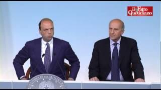"""Governo, Pansa nuovo capo della Polizia, Alfano ai cronisti: """"Non credo servano domande"""""""
