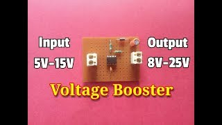 Voltage Booster Circuit...This Circuit Can Convert The Input Voltage To Almost Double Voltage..