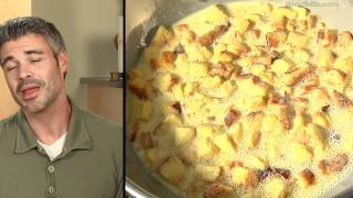 Creamy Cranberry Bread Pudding With Chocolate Chunks