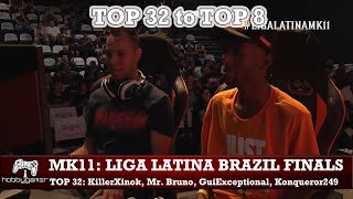Mortal Kombat 11: Liga Latina Brazil Finals Top 32 to Top 8 (KillerXinok, Mr. Bruno, GuiExceptional)
