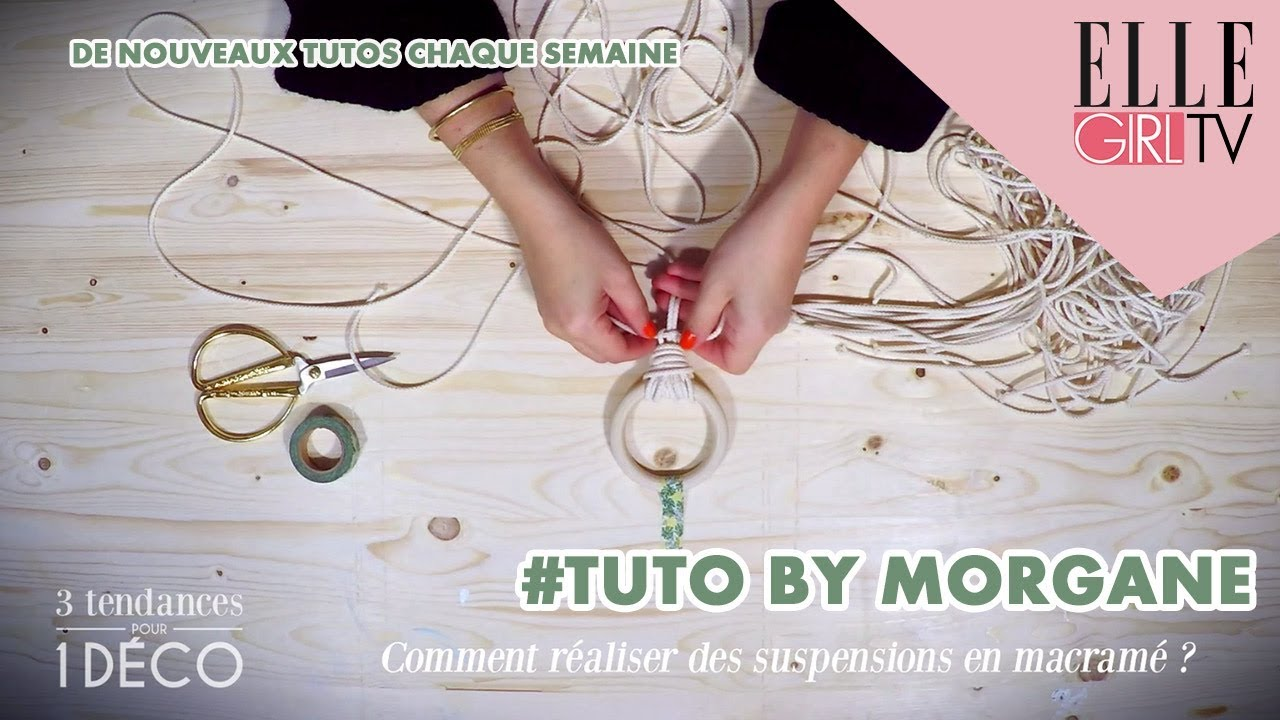 Tuto Suspensions En Macrame I 3 Tendances Pour 1 Deco Avec Mareva