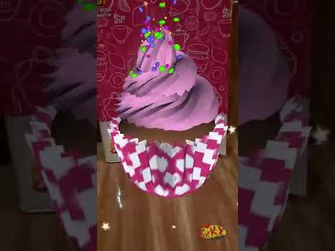 magic book 4D animation kartun cupcake