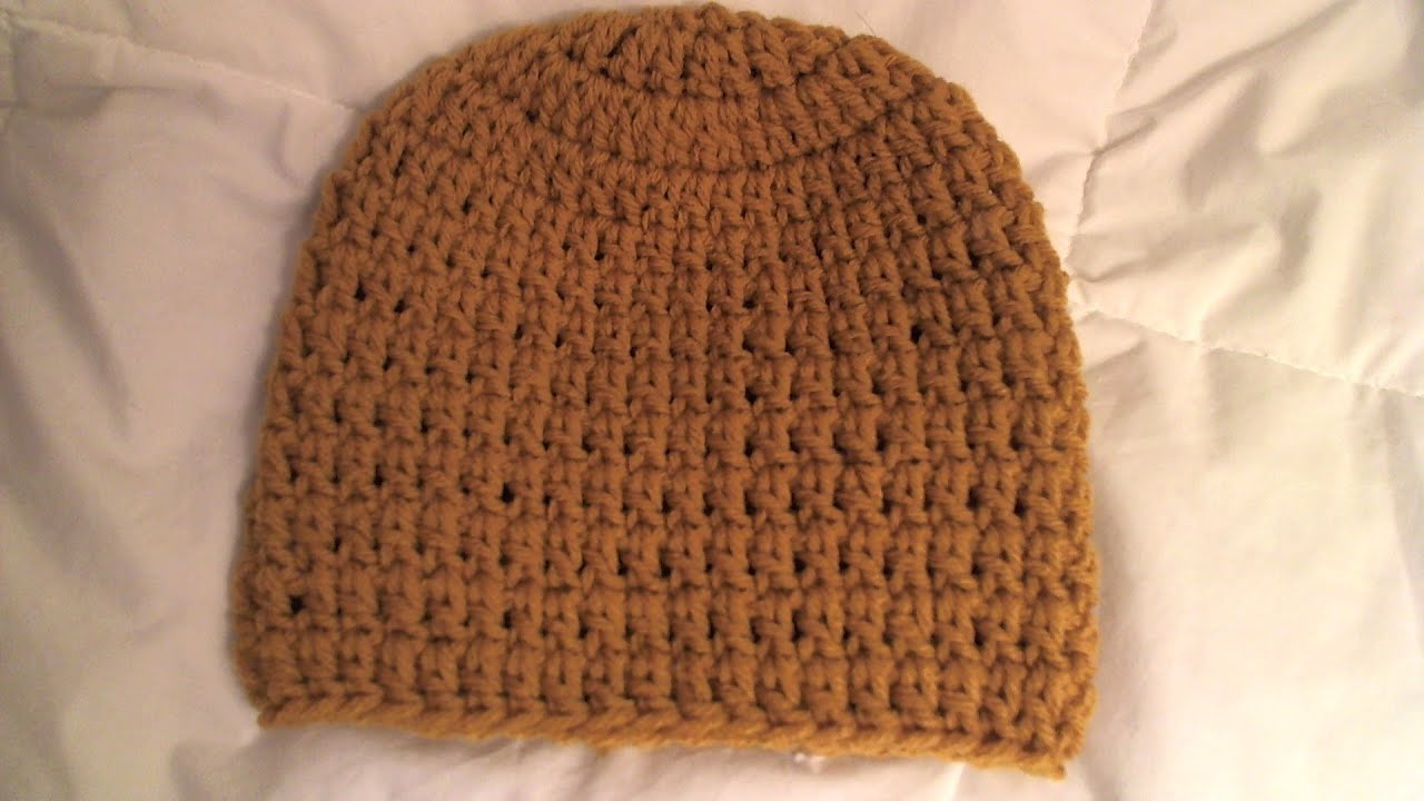 How To Crochet A Beanie : How to crochet basic Beanie Tutorial/ all sizes, baby to adult ...