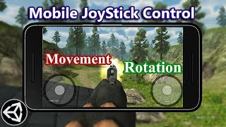 FPS Shooter Mobile Joystick Rotation and movement (Hindi / Urdu )