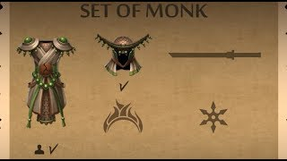 Shadow Fight 2    ASCENSION - Collect SET OF MONK 「Android Gameplay」