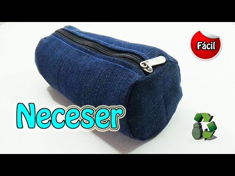57cb0bedeb7 Neceser o estuche escolar con jeans (Reciclaje) Ecobrisa. - YouTube