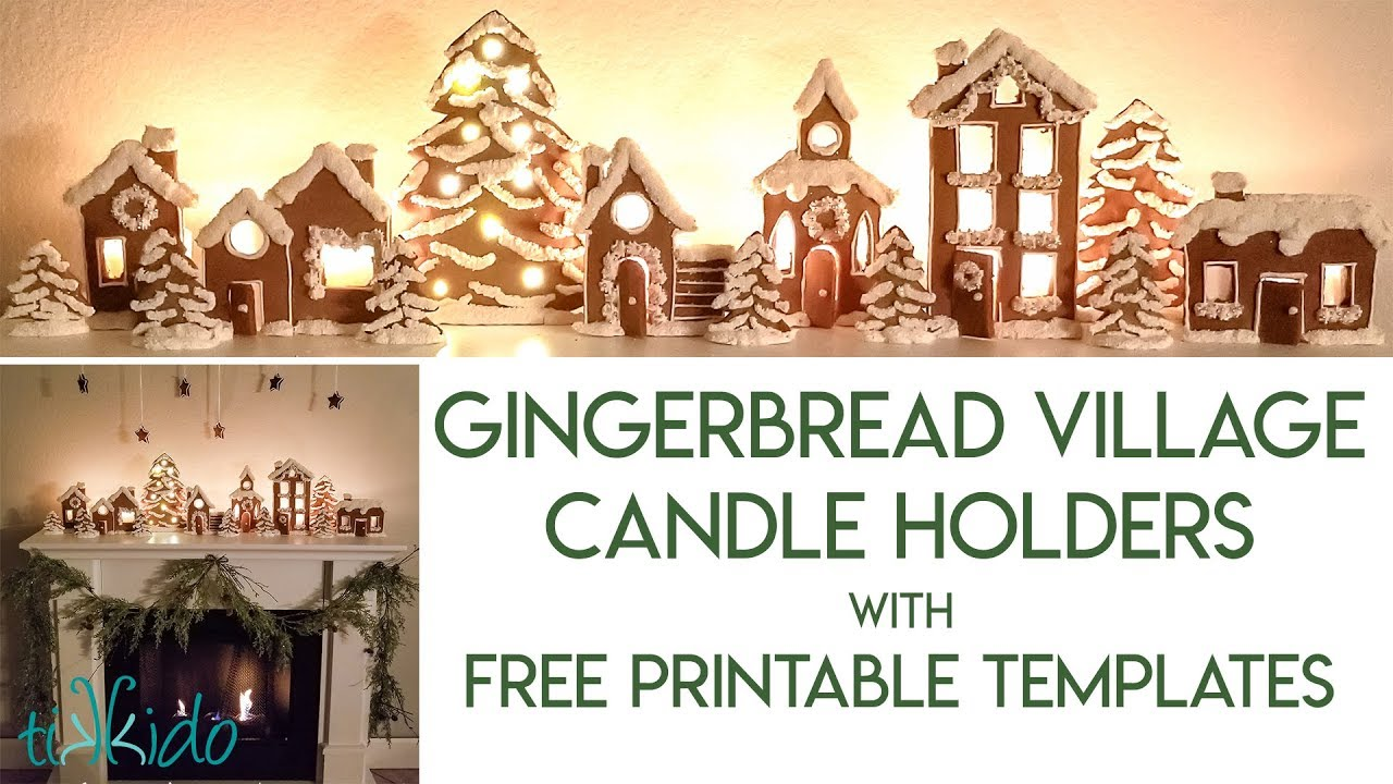 Gingerbread candle holder village christmas mantle tutorial youtube gingerbread candle holder village christmas mantle tutorial maxwellsz