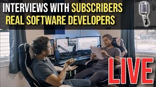 🔴Interviewing REAL Software Engineers - (2 Giveaways) - NOW ON TWITCH | @joshuafluke everywhere