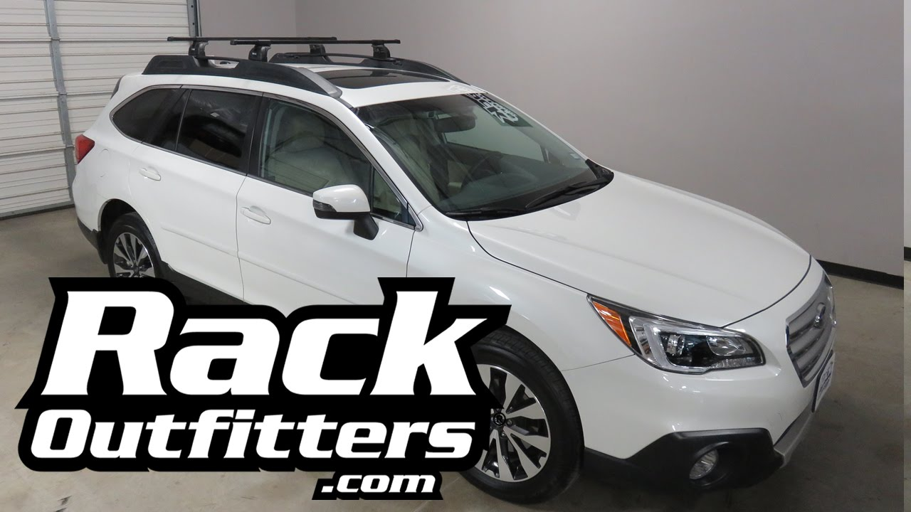Subaru Outback Wagon With Thule Podium Squarebar Roof Rack