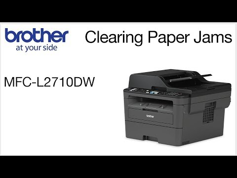 Brother MFCL2710DW - Clearing paper jam errors