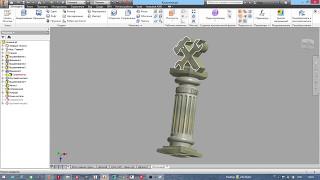 """Урок 6: Колонна-постамент (видеокурс """"Autodesk Inventor для детей"""")"""
