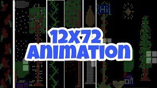 12x72  Straße Kolka  Animation  || Antor Elektronik || Pixel-LED ||  Tangail, Bangladesch