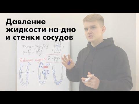 Давление жидкости на дно и стенки сосудов. Сообщающиеся сосуды Урок 10. Курс физики к ЕГЭ