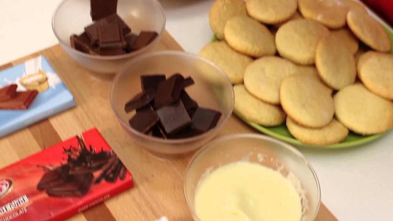 Biscotti al limone ricoperti di cioccolato - YouTube