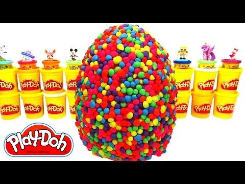 Huevo Sorpresa Gigante de Arcoiris Play Doh - Aprende los Colores con el Arcoíris