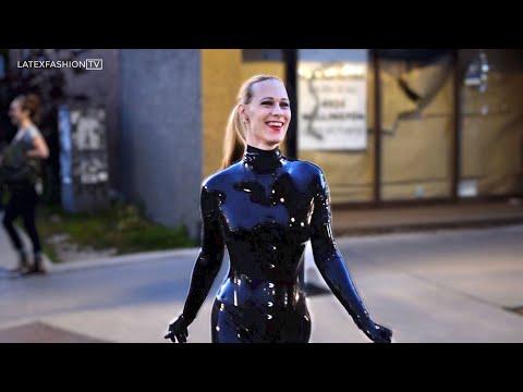 Walking in Latex During Lockdown | LatexFashionTV