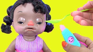 #Crying Baby Doll Alive ИГРАЕМ В ДОКТОРА Toddler Куклы Пупсики Sweet Tears Baby Игрушки
