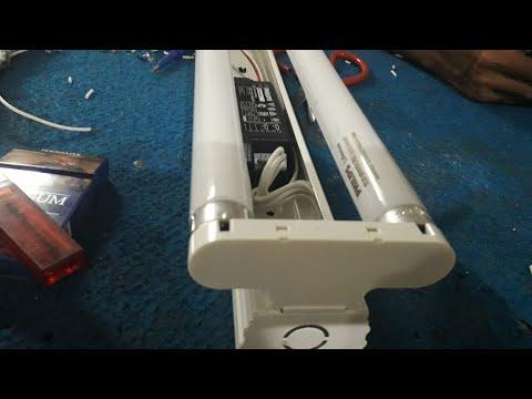 Cara Merakit Lampu Neon 2 X 18 Watt Ballast Elektronik Youtube