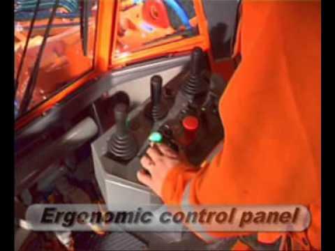 Бурение шпуров в выработке с машиной Axera 7