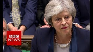May responds after Brexit vote defeat - BBC News