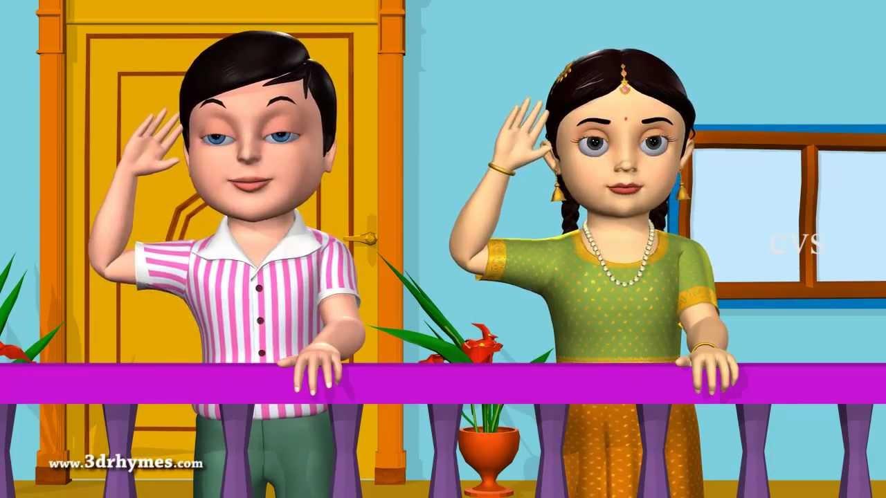 Good Morning - 3D Animation English Nursery rhyme for ...