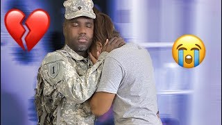 MY HUSBAND IS GETTING DEPLOYED BY THE ARMY PRANK
