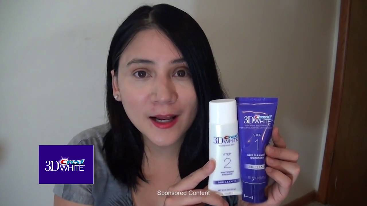 Crest 3d White Brilliance 2 Step Toothpaste - YouTube