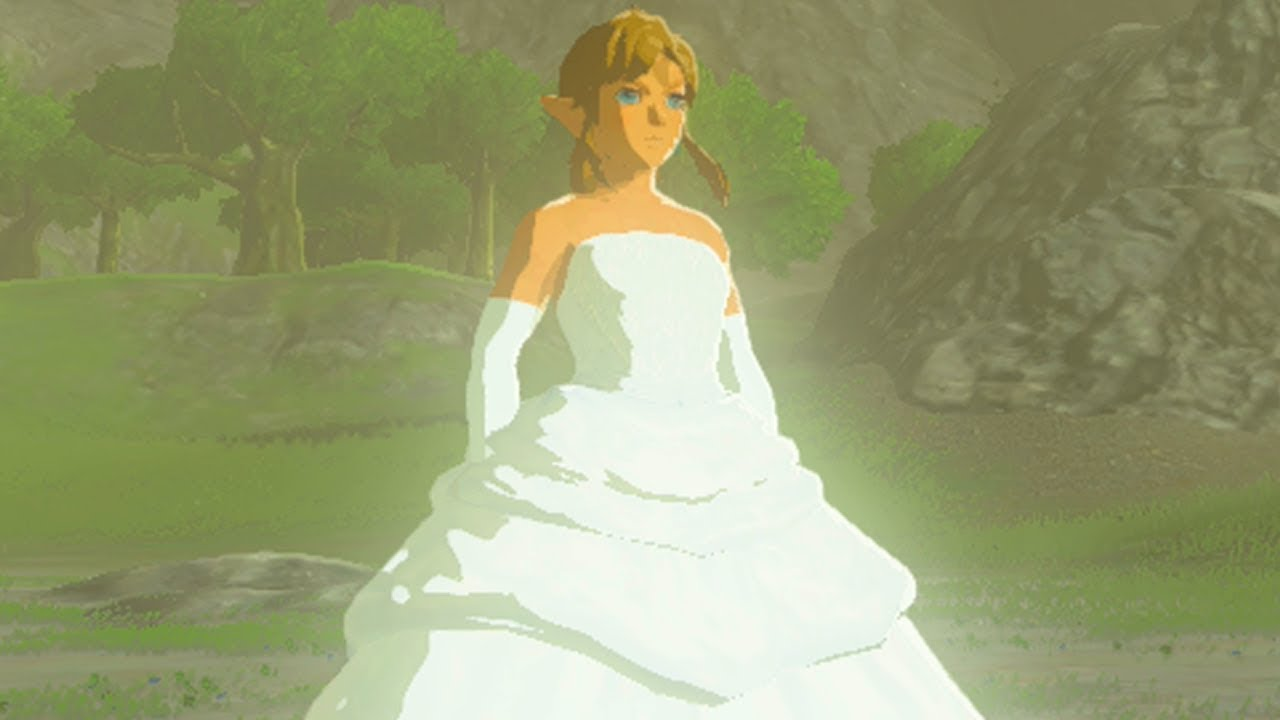 Cross Dressing Link Gets A Makeover Runaway Bride Link Zelda Breath Of The Wild Mod