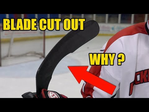 Hockey Stick With Blade Cut Out - NICC Hockey Review