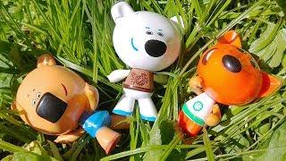 Ми-Ми-Мишки в Траве / Играем в Игрушки /Видео для Самых Маленьких