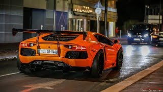 Liberty Walk Lamborghini Aventador w/ Armytrix Exhaust - Start Ups & Driving on the Road !