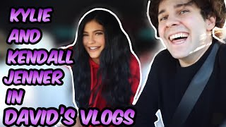 KYLIE and KENDALL JENNER appearances in David Dobrik's vlogs!!!!