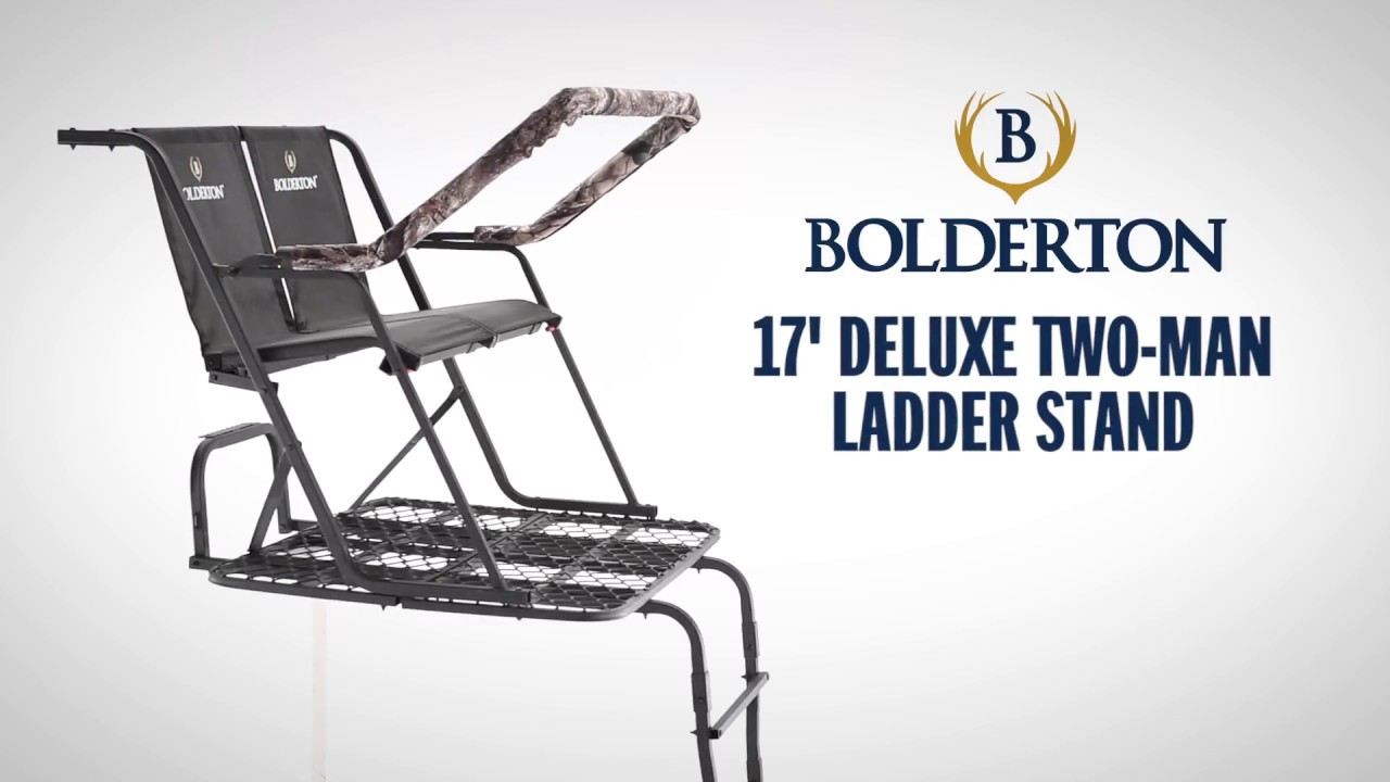 Bolderton 17 Deluxe Two Man Ladder Stand Youtube