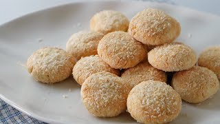 COCONUT COOKIES Eggless ll Apron
