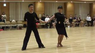 社交ダンス サンバ 優勝 第15回練習着10ダンス競技会 サークル草の根10ダンス競技会