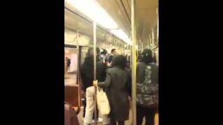 2 Transgender Men Wear This Woman Out On The NYC Subway After They Smashed Her Cell Phone!