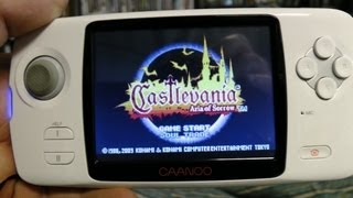 CAANOO playing Castlevania (GameBoy)