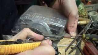 Как снять стекло с противотуманок?