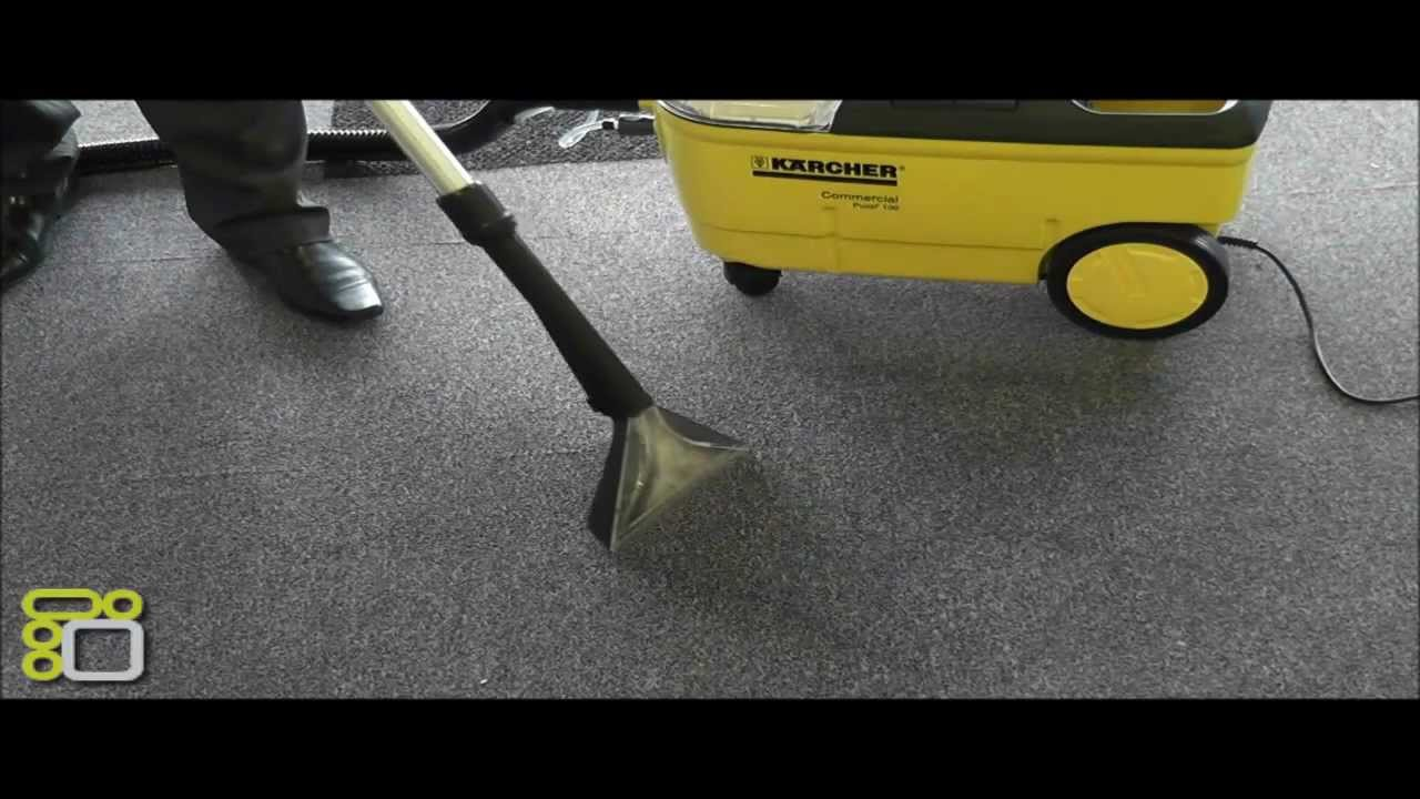 Karcher Carpet Cleaner Puzzi 100 Demonstration Youtube