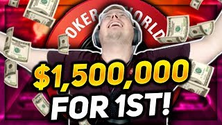 $5,200 WCOOP MAIN EVENT $1,500,000 FOR 1ST!! PokerStaples Stream Highlights