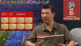 CHÍNH THỨC: Lịch thi đấu VCK World Cup 2018 Các Bảng Đấu