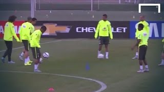 Fred & Douglas Costa show off their skills