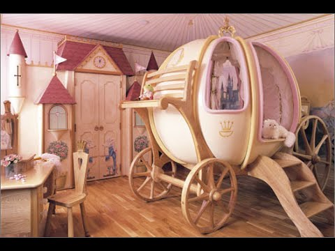 Disney princess bedroom decor - YouTube