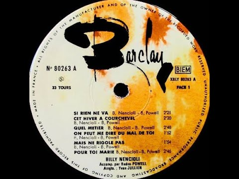"Billy Nencioli & Baden Powell ""Si rien ne va"" 1966 Barclay"