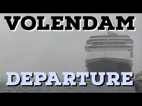 Volendam Departing Port of Yokohama in Storm