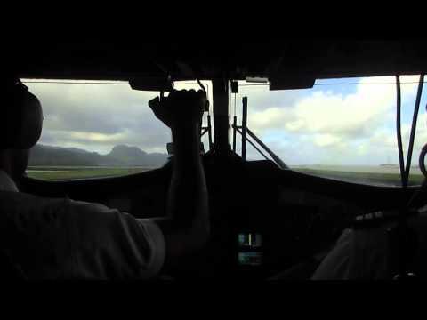 Landing into Pagopago international airport